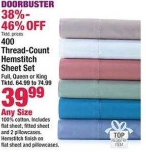 400 Thread-Count Hemstitch Sheet Set