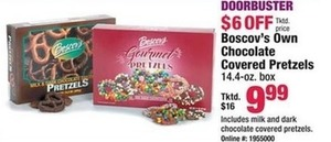 Boscov's Own Chocolate Covered Pretzels 14.4 oz Box