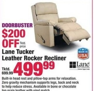Lane Tucker Leather Rocker Recliner