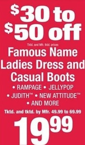 Famous Name Ladies Dress and Casual Boots
