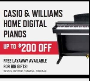 Williams Digital Piano 88 Weighted Keys With Bench | Music & Arts