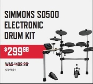 Simmons SD500 5-Piece Electronic Drum Set Standard