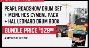 Pearl Roadshow Drum Set + Cymbal Pack + Drum Book