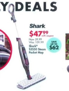 Shark S3550 Steam Pocket Mop w/ Coupon