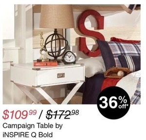 iNSPIRE Q Bold Campaign Table