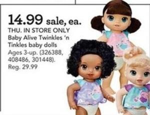 Baby Alive Twinkles N' Tinkles Doll Set