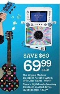 The Singing Machine Karaoke System with 7 inch Color Screen - White The Singing Machine Karaoke System