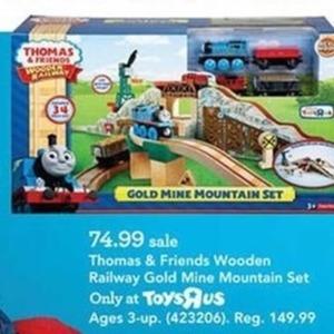 Thomas and Friends Wooden Railway Gold Mine Mountain Set