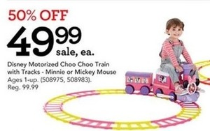 Disney Motorized Choo Choo Train With Tracks