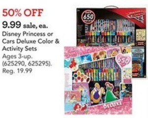 Disney Princess Deluxe Coloring and Activity Set