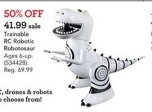 Trainable RC Robotic Robotosaur