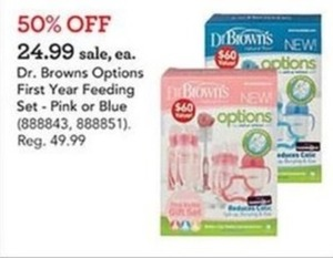 Dr. Browns Options First Year Feeding Set - Blue