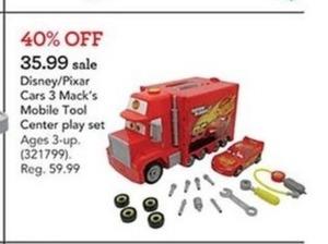 Disney Pixar Cars 3 Mack' s Mobile Tool Center Playset