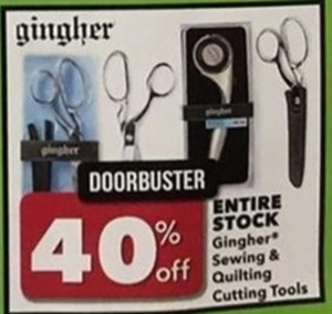 Gingher Sewing and quilting Cutting Tools