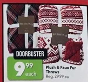 Plush Faux Fur Throws