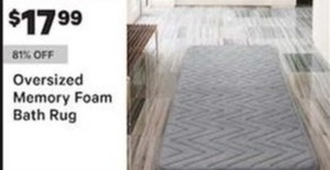 Oversized Memory Foam Bath Rug
