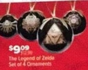 The Legend of Zelda Set of 4 Ornaments