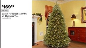 Dunhill Fir Collection 7.5' Pre Lit Christmas Tree