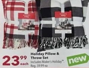 Holiday Pillow & Throw Set