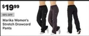 Marika Women's Stretch Drawcord Pants