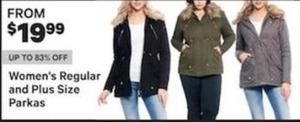 Women's Regular and Plus Size Parkas