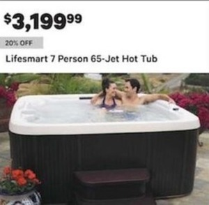 Lifesmart 7 Person 65 Jet Hot Tub