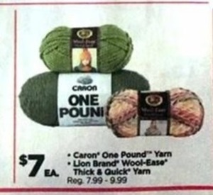 Select Caron and Lion Brand Yarn