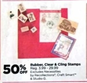 Rubber, Clear and Cling Stamps