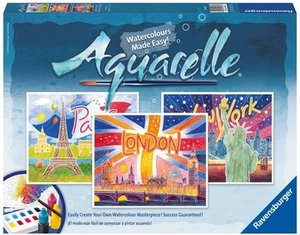 Ravensburger Aquarelle World Cities Arts and Crafts Kit