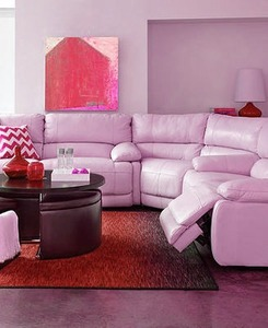 Nina Leather 3 Piece Sectional