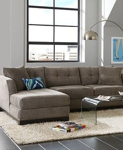 Elliot Fabric 3 Piece Chaise Sectional
