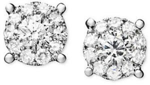 1 1/4 ct. tw. Prestige Unity Diamond Stud Earrings in 14k White Gold