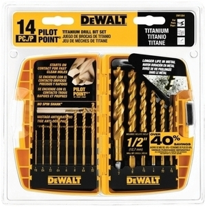 DeWalt 14-Pc. Titanium Drill Bit Set w/ Ace Card
