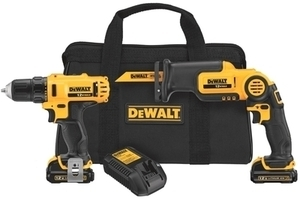 DeWalt 12 Volt Max Lithium Ion Drill/Driver Reciporcating Saw Combo Set