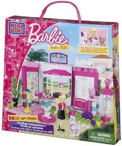 Mega Bloks Barbie Build 'n Style Pet Shop or Fashion Boutique