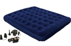 North American Outdoors Queen Flocked Air Bed w/ Pump