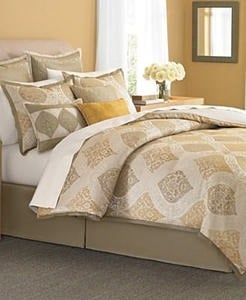 Martha Stewart Collection Bedding, Noble Scroll 9 Piece Queen Comforter Set