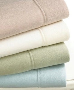 Martha Stewart Collection Microfiber Poly Fleece Sheet Sets-All Sizes
