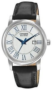 Citizen EW1568-04A Women's Eco-Drive Black Leather Watch