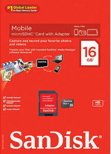SanDisk 16GB Micro SD Memory Card