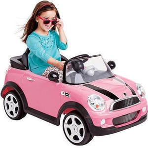 Avigo 6 volt Mini Cooper Ride On - Pink