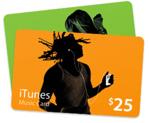 Two iTunes $25 Gift Cards + $10 Radio Shack Gift Card