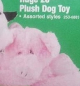 "Huge 28"" Plush Dog Toy"