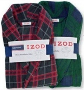 Izod Men's Microfleece Robes
