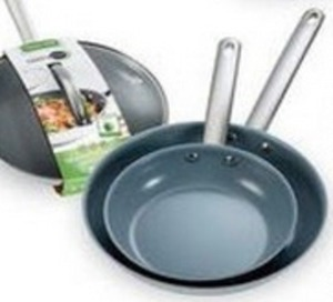 "Green Pan 12"" Miami Stainless Steel Covered Fry Pan"