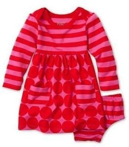 giggleBABY Girls' Striped Dot Dress