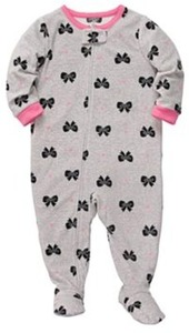 Carter's Bow Microfleece Footed Pajamas