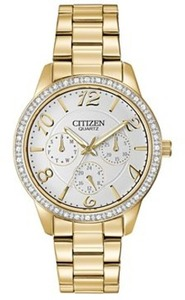 Citizen Women's Gold-Tone Crystal-Accent Boyfriend Watch