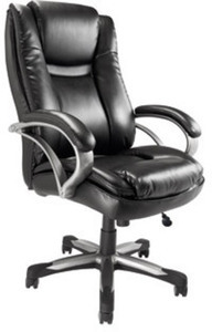 TUL BTEC 600 Big & Tall Executive Chair, Black