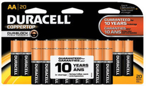 Duracell Coppertop Alkaline AA Batteries 20-Pk. After Bonus Rewards